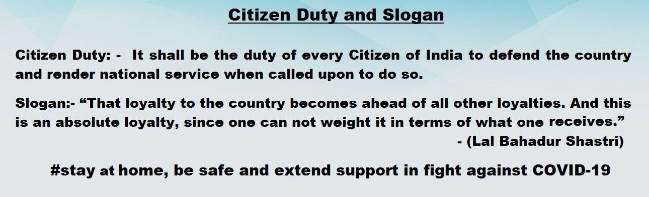 Citizen Duty & Slogan