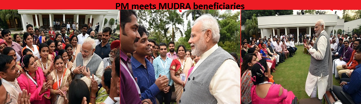 PM meets MUDRA beneficiaries