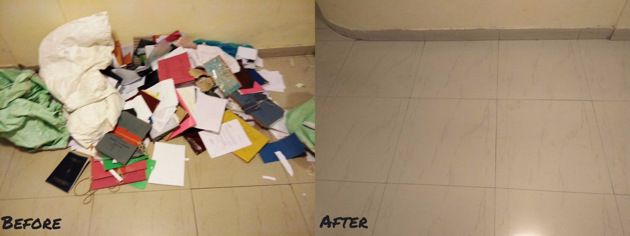 corridor Before After
